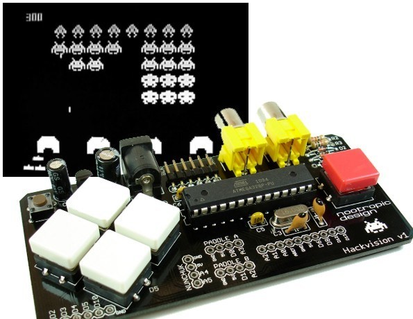 Hackvision arduino game console kit tinkersphere