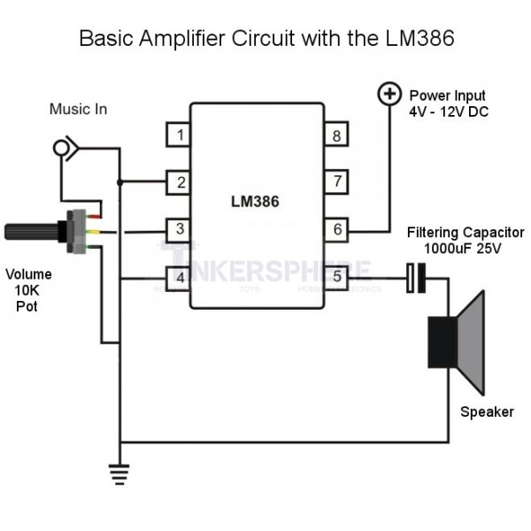 1 75 - lm386 low voltage audio amplifier