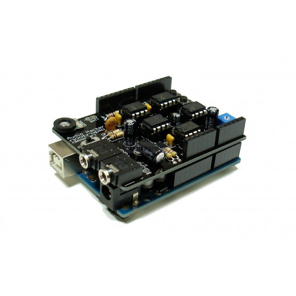 Audio hacker shield kit for arduino tinkersphere