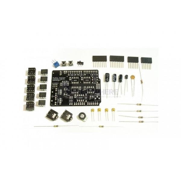 Audio hacker shield kit for arduino tinkersphere