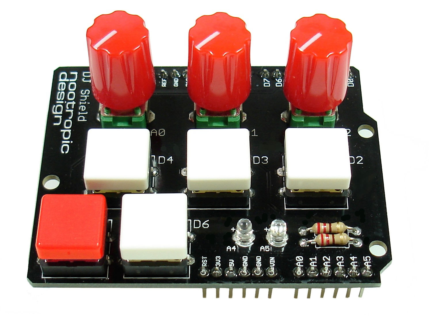 Dj shield kit for arduino buttons pots