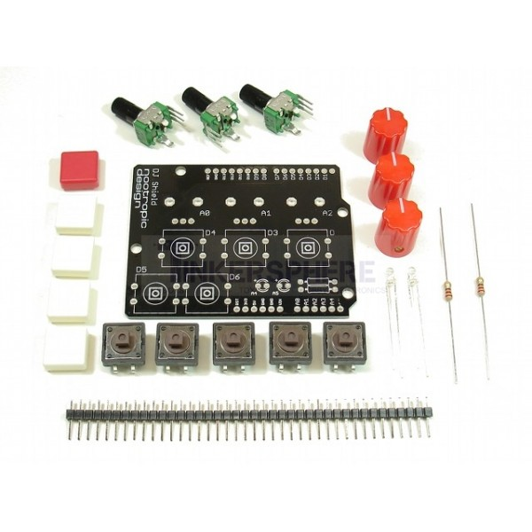 Dj shield kit for arduino buttons pots