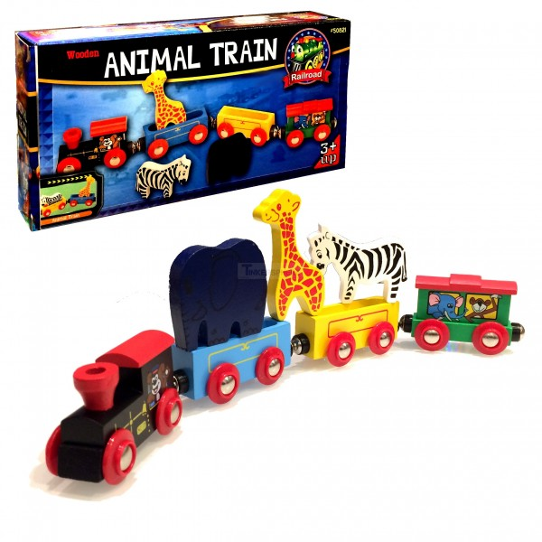 Animal Train Set : Wooden train set with animals tinkersphere