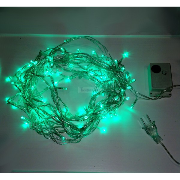 USD 7.99 - Green 10m 8-Mode LED String Lights / Fairy Lights / Christmas Lights - Tinkersphere