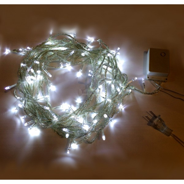 White String Christmas Lights Led : USD 7.99 - Cool White 10m 8-Mode LED String Lights / Fairy Lights / Christmas Lights - Tinkersphere