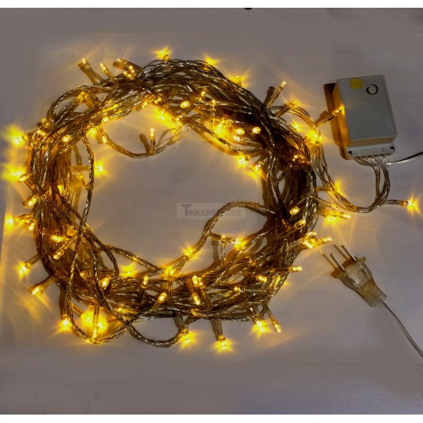 USD 7.99 - Yellow 10m 8-Mode LED String Lights / Fairy Lights / Christmas Lights - Tinkersphere