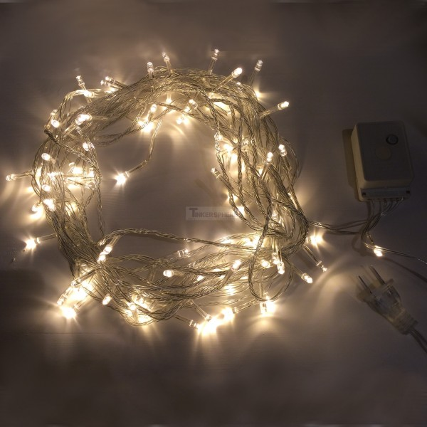 White String Christmas Lights Led : USD 7.99 - Warm White 10m 8-Mode LED String Lights / Fairy Lights / Christmas Lights - Tinkersphere