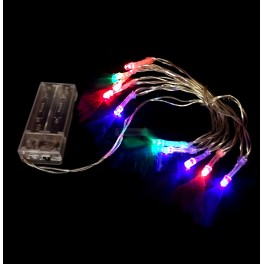 RGB 1m Battery Powered LED String Lights / Fairy Lights / Christmas Lights