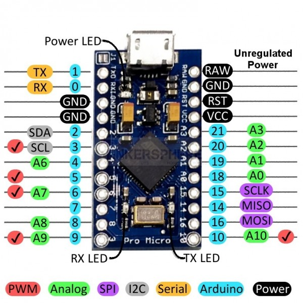 arduino pro schematic  | tinkersphere.com