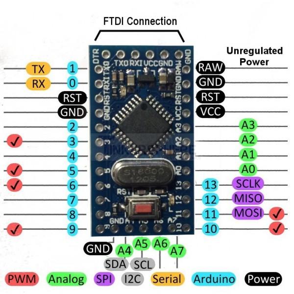 Pro mini v mhz arduino compatible atmega p