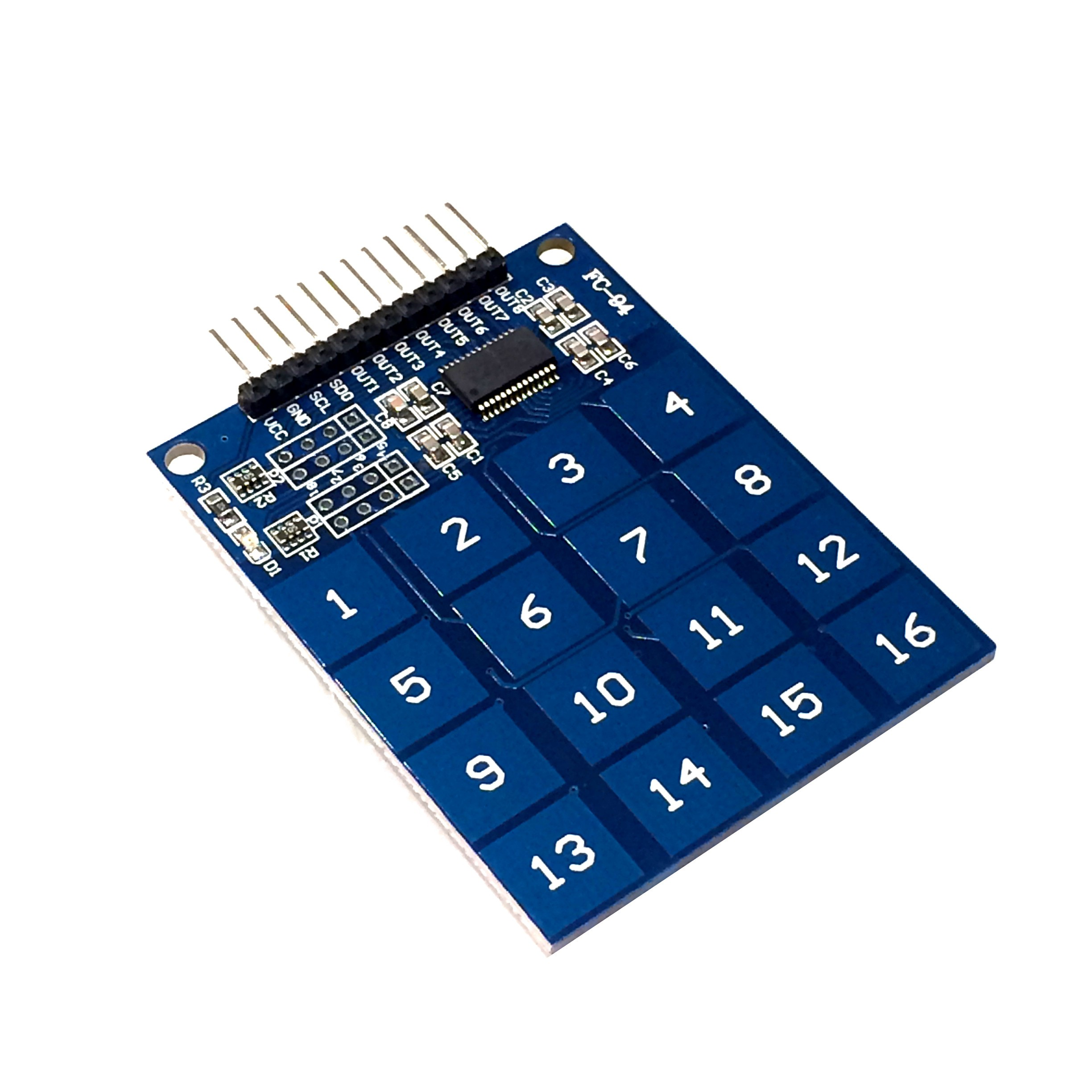 Capacitive touch keypad raspberry pi arduino