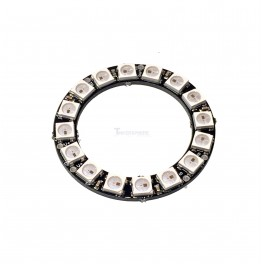 16 x WS2812 5050 RGB LED Ring with Integrated Drivers (Neopixel Compatible)