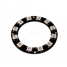 12 x WS2812 5050 RGB LED Ring with Integrated Drivers (Neopixel Compatible)