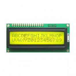 16x2 LCD Module (Black Text / Green Backlight)