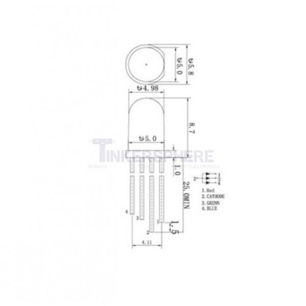 1 49 - rgb led - 5mm common cathode