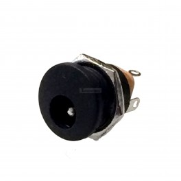 Round Panel Mount DC Jack: 5.5x2.1mm