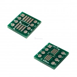 Dual SMT to DIP Breakout: SO-8 and SSOP8 to 8-pin DIP Adapter