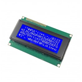 20x4 LCD Module (White Text / Blue Backlight)