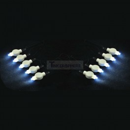 10pcs Floralyte Submersible LEDs with Battery