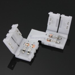 Right Angle 2 Pin LED Strip Coupler