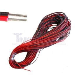 Red and Black 2 Conductor Wire by the foot