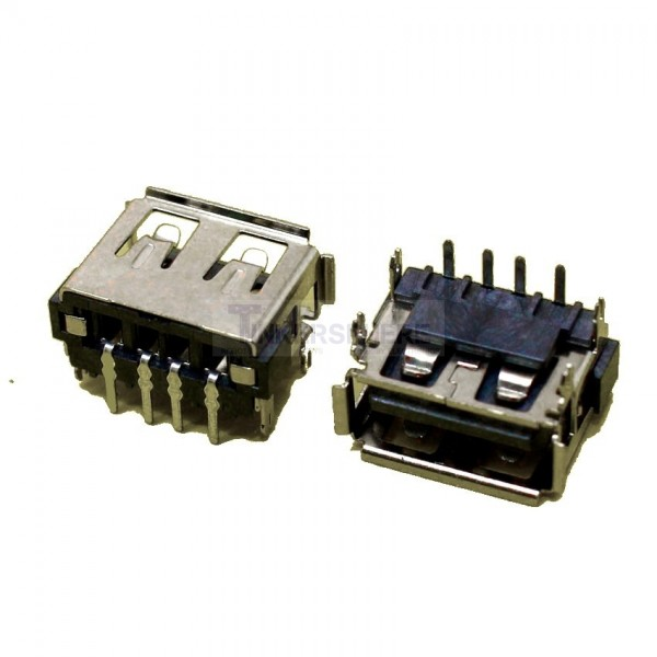 1 25 Female Usb Port Solder Connector Type A Tinkersphere