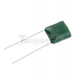 High Voltage Single Polyester Film Capacitor Radial Lead
