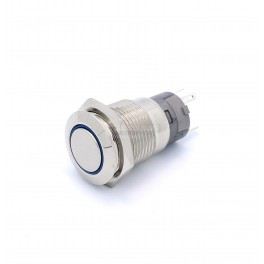 Momentary 16mm Button LED Blue