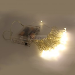 Battery Operated Copper String Lights - 50 LED