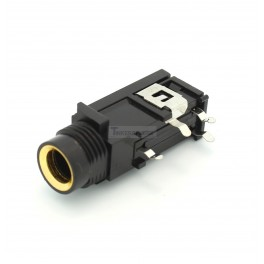 """1/4"""" (6.35mm) Stereo PCB Mount Audio Jack"""