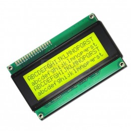 20x4 LCD Module (Black Text / Green Backlight)
