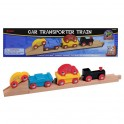 Car Transporter Train for Wooden Toy Sets