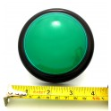 Big Dome Pushbutton - Green lluminated 100mm