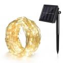 Solar Powered Copper String Lights 100 LED