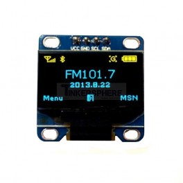 Yellow & Blue OLED Module (Soldered)