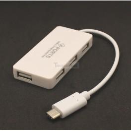4 Port USB C Hub