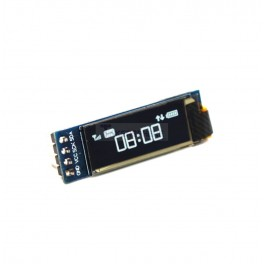 Narrow White OLED Screen 128x32 (Soldered)