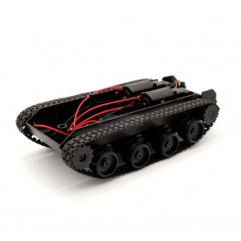 Tank Robot Chassis with Motors and Battery Compartment