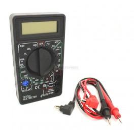 Multimeter: 1000V, 10A, Resistance, Diode & Transistor Tester