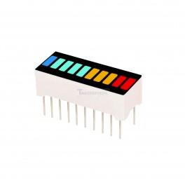 LED Bar Graph: Red Yellow Cyan Blue