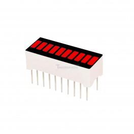 LED Bar Graph: Red 10 segment