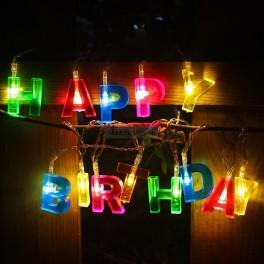 Happy Birthday LED Lights
