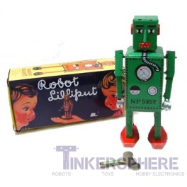 Lilliput Jr. Windup Tin Robot (key included)