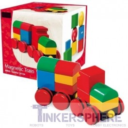 Magnetic Wood Stacking Train