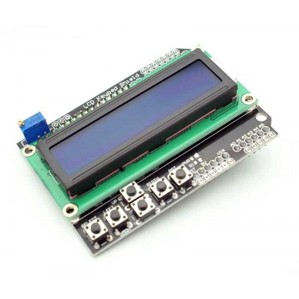 Lcd display shield with keypad for arduino