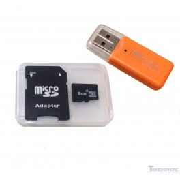 8GB Micro SD Card Preloaded with NOOBS for Raspberry Pi