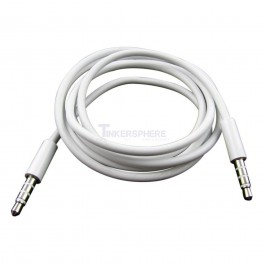 "Audio Cable (Male to Male 3.5mm 1/8"" 4 Pole): 1m / 3.28 feet"