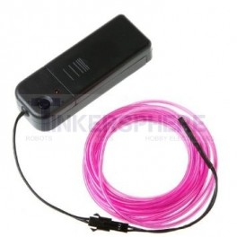 Pink EL (Electroluminescent) Wire with Inverter - 3m
