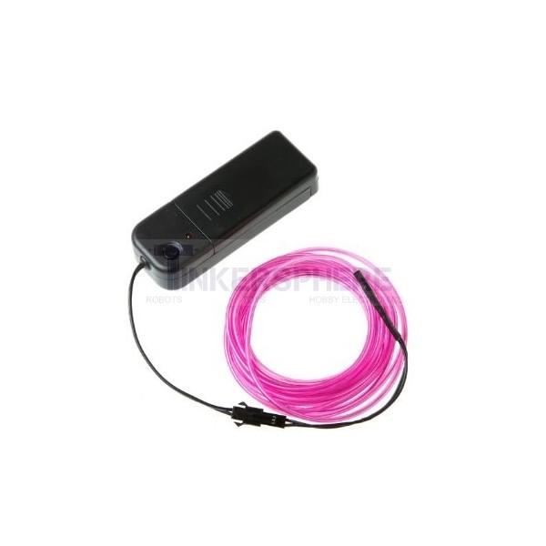 $10.99 - Pink EL (Electroluminescent) Wire with Inverter - 3m ...