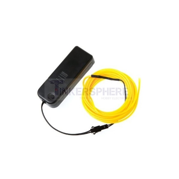 $10.99 - Yellow EL (Electroluminescent) Wire with Inverter - 3m ...